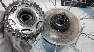 Монтаж + демонтаж кассеты/трещотки велосипеда