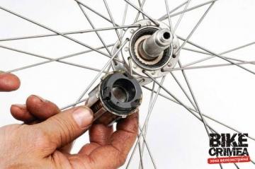 Обслуживание барабана кассетной втулки велосипеда