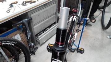 Укорачивание штока вилки велосипеда