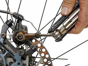 Замена калипера дискового механического тормоза