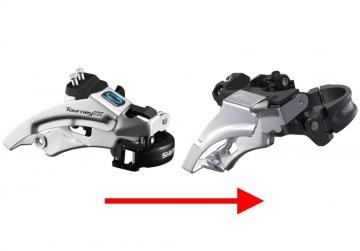 Замена переднего переключателя скоростей велосипеда