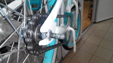 Чистка цепи велосипеда