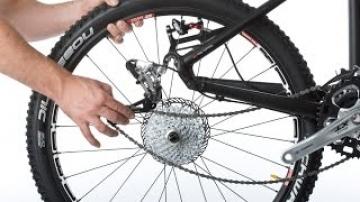 Демонтаж + монтаж колеса велосипеда